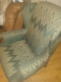 Green high back chair