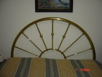 Solid Brass Queen Headboard and bed frame Innisfil