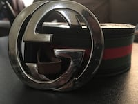 black Gucci leather belt with silver buckle Boston, 02127