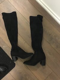 Zara over the knee black suede boots Toronto, M4Y 0B8