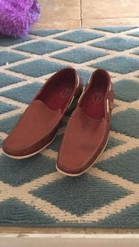 pair of red suede loafers North Dumfries