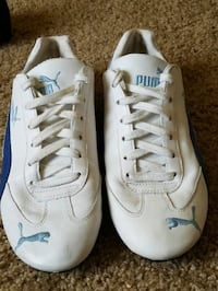 pair of white-and-blue Puma  weight lifting shoes Concord, 28027