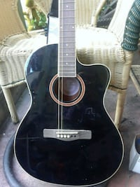 black and white acoustic guitar Victoria, V8T 1S9