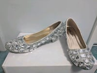 pair of silver-colored glittered heeled shoes Richmond, V6Y 1G1