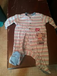 and red striped onesie sleeper Scotia, 12302