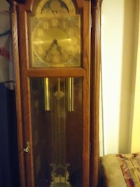 brown wooden framed glass display cabinet BROOKLYN
