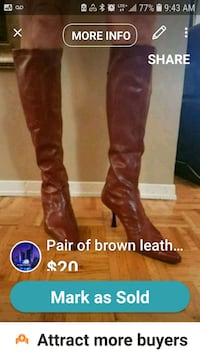 pair of brown leather knee-high boots screenshot Mississauga, L5R 3E6