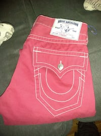 pink True Religion jeans New York, 10454