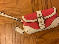 Hot Pink and White Coach Wristlet Bethesda, 20814