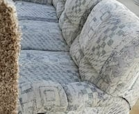 gray and black fabric 3-seat couch