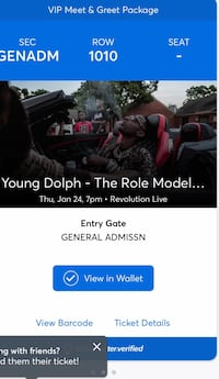 Young Dolph Meet and Greet ticket  Tampa, 33634