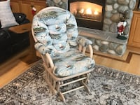 Nautical themed (lighthouses) glide-rocker. Excellent condition. Comfortable and little use. Traverse City, 49685