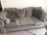 Green micro suede 3 seats couch