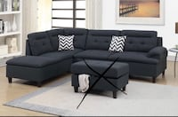 Brand new black sectional sofa couch (no ottoman) Silver Spring, 20902