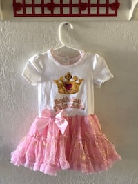 girl's white and pink dress Ontario, 91764