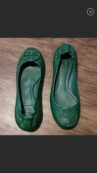 Green Tory Burch Reva leather flats Columbus, 43206