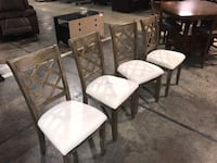 Dining room chairs only 119$ brand new in box, comes in pack of two