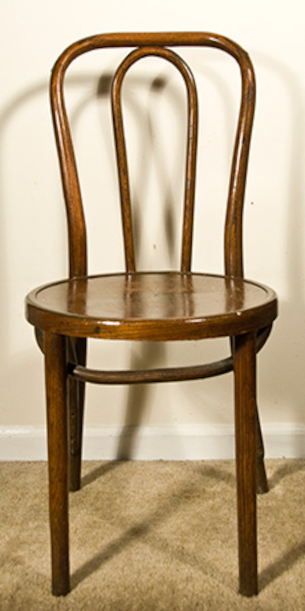 Antique Vintage Solid Wood Soda Fountain Ice Cream Parlor Chair Great Condition
