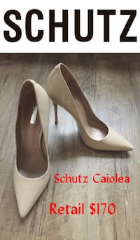 Schutz Caiolea Nude Patent Leather Pumps 8 Lanham