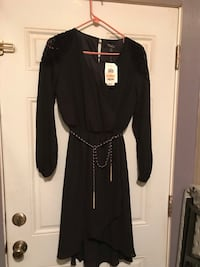 Black and gray long sleeve dress size s