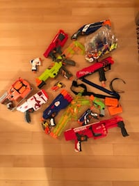 Nerf guns. Buy he entire bunch. Lots of nerf bullets of all different kinds Richmond Hill, L4B