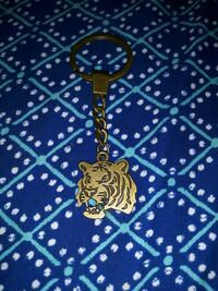 Antique bronze LSU Tiger head Keychain Slidell, 70461