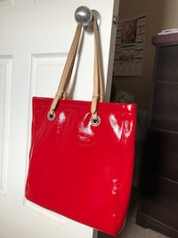 Red leather tote bag Calgary, T3J 0P6