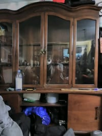 35 year old display hutch real wood mint condition
