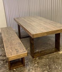 Made to order- rustic farmhouse table Edmonton