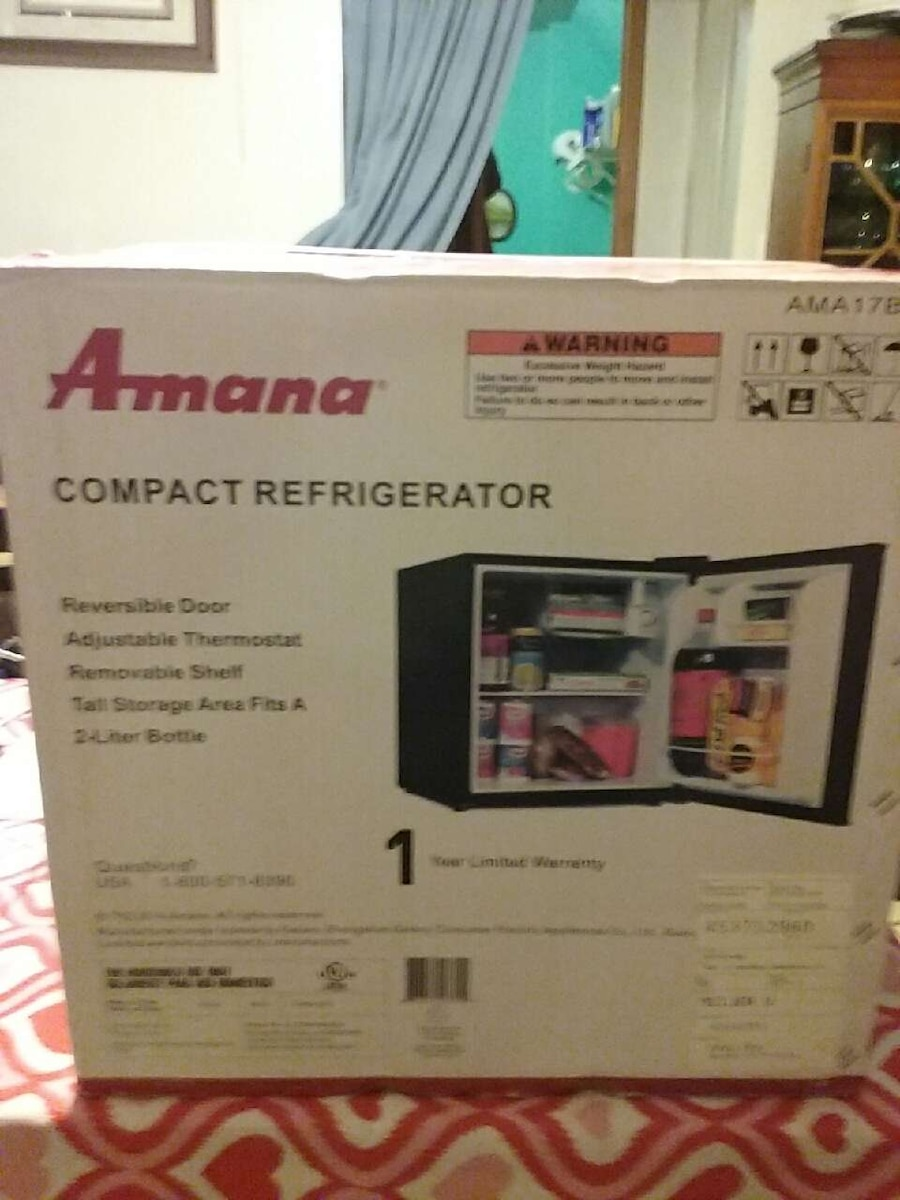 amana compact refrigerator box for sale  Buckley