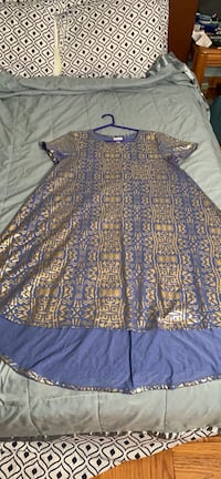 women's blue and brown floral dress 57 km