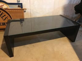Glass top coffee table black !!!!