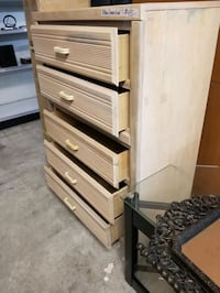 tall chest dresser, last drawer is off rails