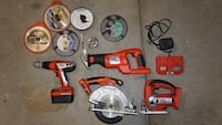 Black and Decker Firestorm 24v Cordless Tool Kit w/charger and circular blades Oakdale, 15071