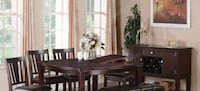 Luxury 6 Pc Counter Height Dining Set OXNARD