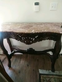 marble top ornate wood work, large table excellent condition!! 120$  Moorpark, 93021