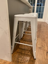 4 New White Metal Bar Stools Philadelphia