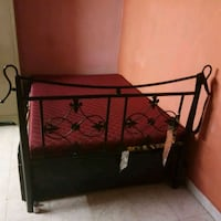 black metal bed frame with brown bed mattress Mumbai, 400007