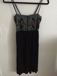 black and gray spaghetti strap dress Makaha Valley, 96792