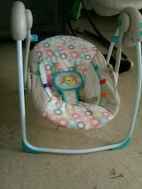 baby's gray and white swing chair Portsmouth