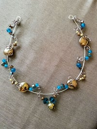 silver-colored and blue gemstone necklace Mira Loma, 91752