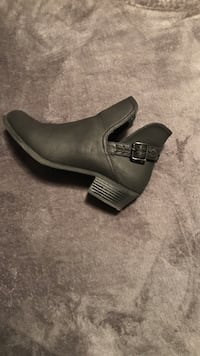 Unpaired gray ankle bootie