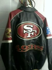 leather 49ers. championship.  jacket   med.    San Diego, 92105