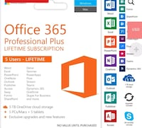 Microsoft Office 365 2019 Pro Plus for 5 devices Baltimore
