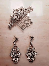 Bridal jewelry (earrings and hair comb) Rexdale Boulevard, M9W