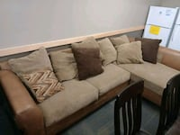 brown and black sectional couch San Antonio, 78228