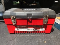 red and black Husky tool box Springfield, 22153