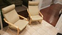 2 Poang Leather Chairs Mississauga, L5W 0B7