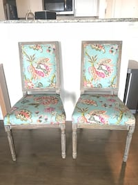Two Stylish Dining Chairs  Arlington