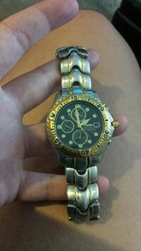 gold chronograph watch with chain link strap Elizabethton, 37643